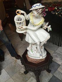 German Porcelain Maiden Art Deco