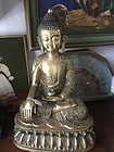 Large  Ornate Chinese Bronze Buddha  22 inches High