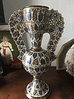 Superb Hispano Mooresque Alhambra Winged Vase Spanish 24 in nigh