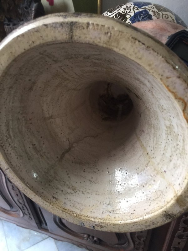Superb Hispano Mooresque Alhambra Winged Vase Spanish 24 in nigh
