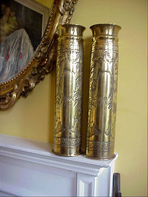 Pr  WWI  Artillery Shell Vases-French -1918
