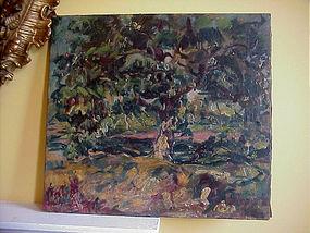 Belgium Impressionist Painting -Sgnd -Lstd