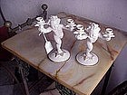 Pr German Porcelain Candlesticks-Signed