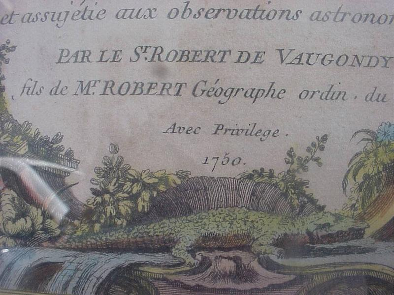 South American French Map   1750