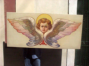 Pair Angel Paintings-Polish-1930s