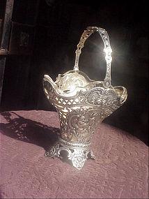 German Silver Basket Marked ca 1900