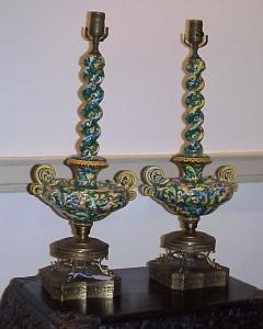 Lamps, Italian Vases 100 YRS  plus pair