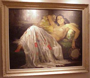 "Painting, ""Apres La Danse""  FRENCH  70yrs"