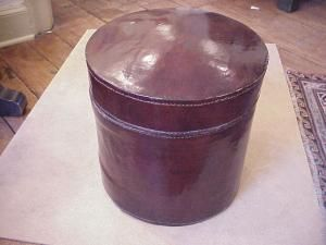 Chinese Leather Hat  Box