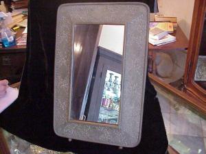 Mirror, Indian Bronze Framed