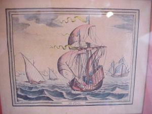 Engravings, French 18th century maritime