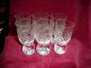 Waterford glasses (6)