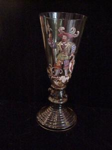 Bohemian Hoch glass, 120yrs handpainted