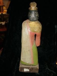 Guatemalan carved wood saint