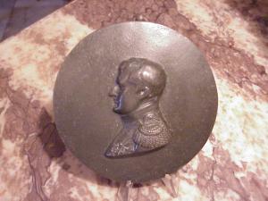 Napoleon bronze rondel, ca 1800
