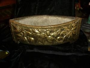 Dutch brass centerpiece / planter - ca 1880