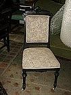 Ebonized  renaissance revival American side chair