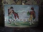 Scaramouche Italian tile-19thc