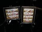 Framed Austrian enameled panels 150yrs