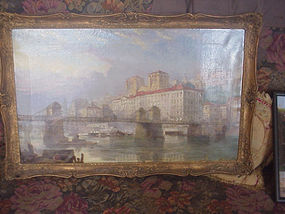 English Oil Painting   Lyon 1855 Hardwick Listed