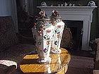 Amazing English Iron Stone Potpourri Pair 1840