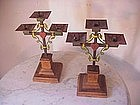 Austrian  Candelsticks Sacred Heart Pr !9c