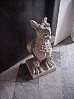 Hand Carved Limestone Gargoyle--Large