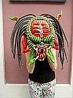 Dominican Papier Mache Mask Predator 1980s