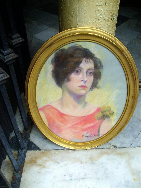Art Deco Gibson Girl Pastel Oval-ca 1930 American Sgnd