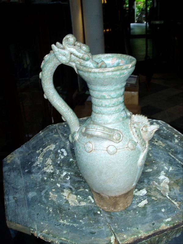 Chinese Swankolok  Glazed Pottery Ewer Ming