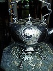 English Silver Plated Tilt Teapot W/Burner ca 1900