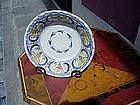 Spanish Talavera Bowl  ca 1800 Polychrome Majolica