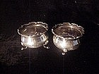 Pair English Sterling  Silver Salts