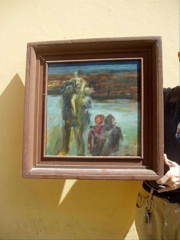 Polish American Oil  Expressionist Sgd  20thc