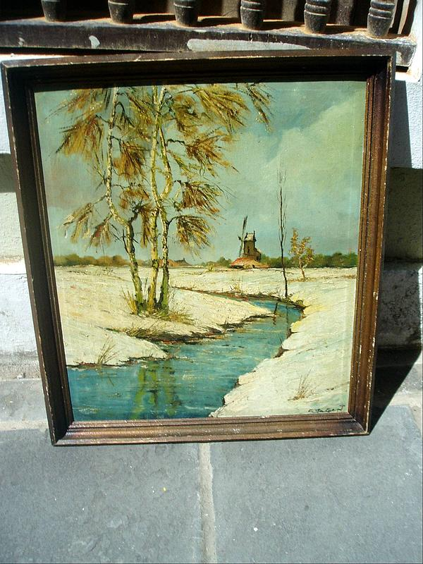 Dutch Early  20thc  Oil Painting  Winter/Spring Sgnd