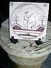 18thc Delft Tile Aubergine Biblical St John