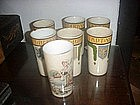 7 Mettlach Ceramic Mugs--Belle Epoch ca 1900s
