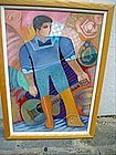 Dominican  Oil Painting Sgnd Listed E Sanchez 1991