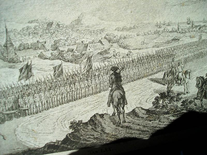18thc Polish Military Formation Engraving Signed