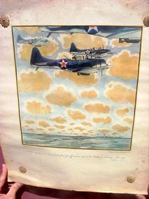 Hand Colored Litho--Aviation Sgnd  Lemon WWII