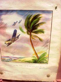 Hand-colored Litho Aviation Sgnd Lemon WWII