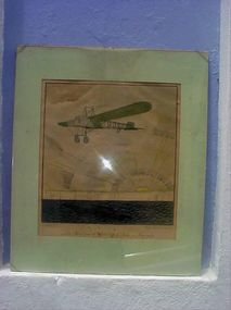 Hand-colored Litho Aviation  sgnd F. Lemon