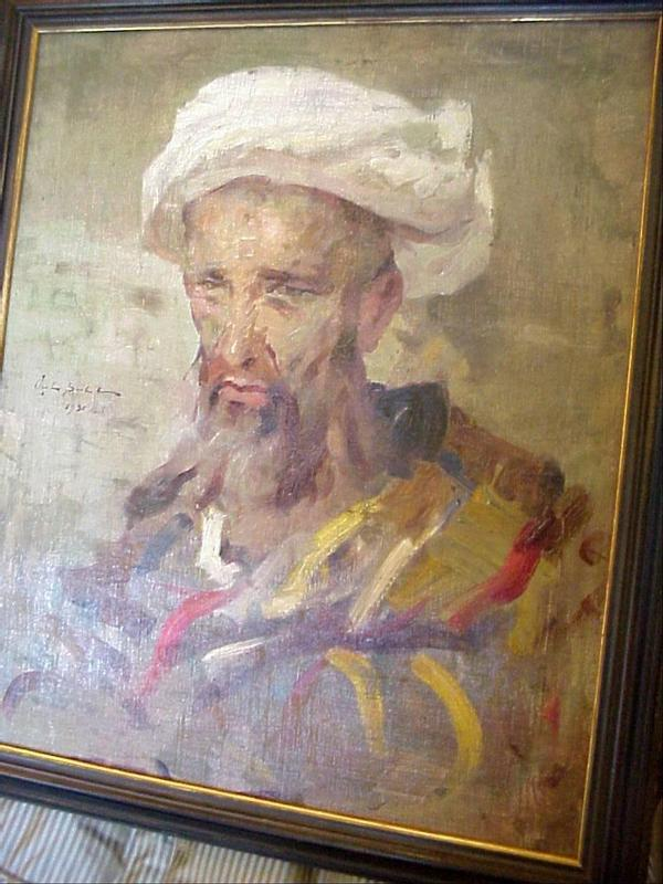 Oil painting of Muslim-Fierce Visage-Signed