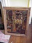 Oil on Board-Church Interior-signed  dtd 1920