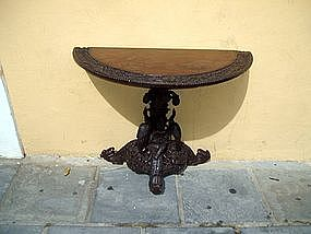 Spectacularly Carved Indian 19thc Console Table
