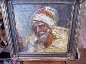 Oil Painting-Arab Portrait--By  Teed-American