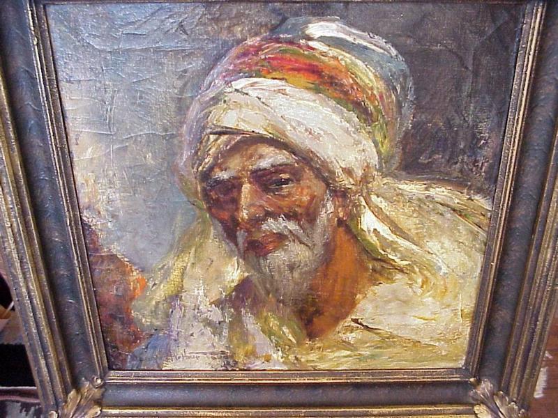 Oil Painting-Arab Portrait--By  Teed-American