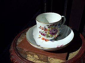 18thc Meissen Cup & Saucer German Porcelain