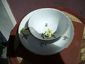 18thc Porcelain German Meissen Cup and Saucer