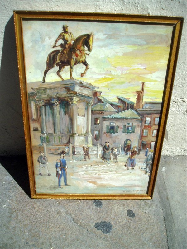 Watercolor Painting of Venice Sgnd 1930s